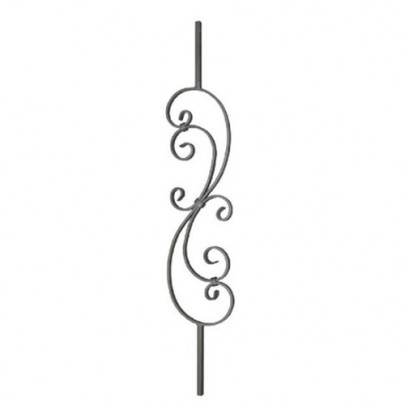 SIMEN METAL 21.163 Wrought Iron Forging Ornamental Balustrade Forged Pickets
