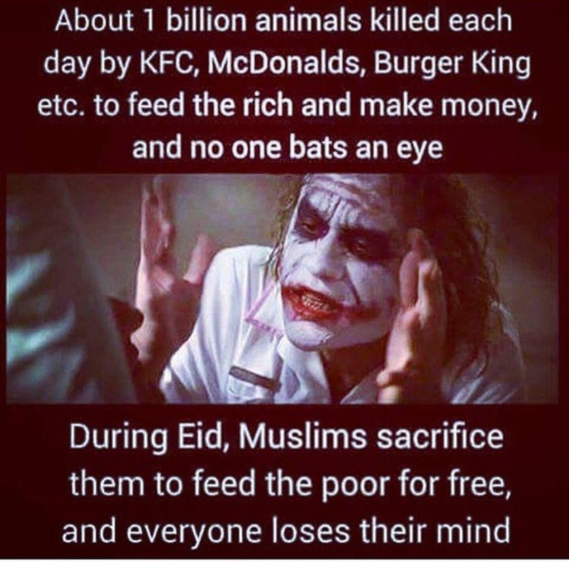 Islam joker eid meme true animal cruelty