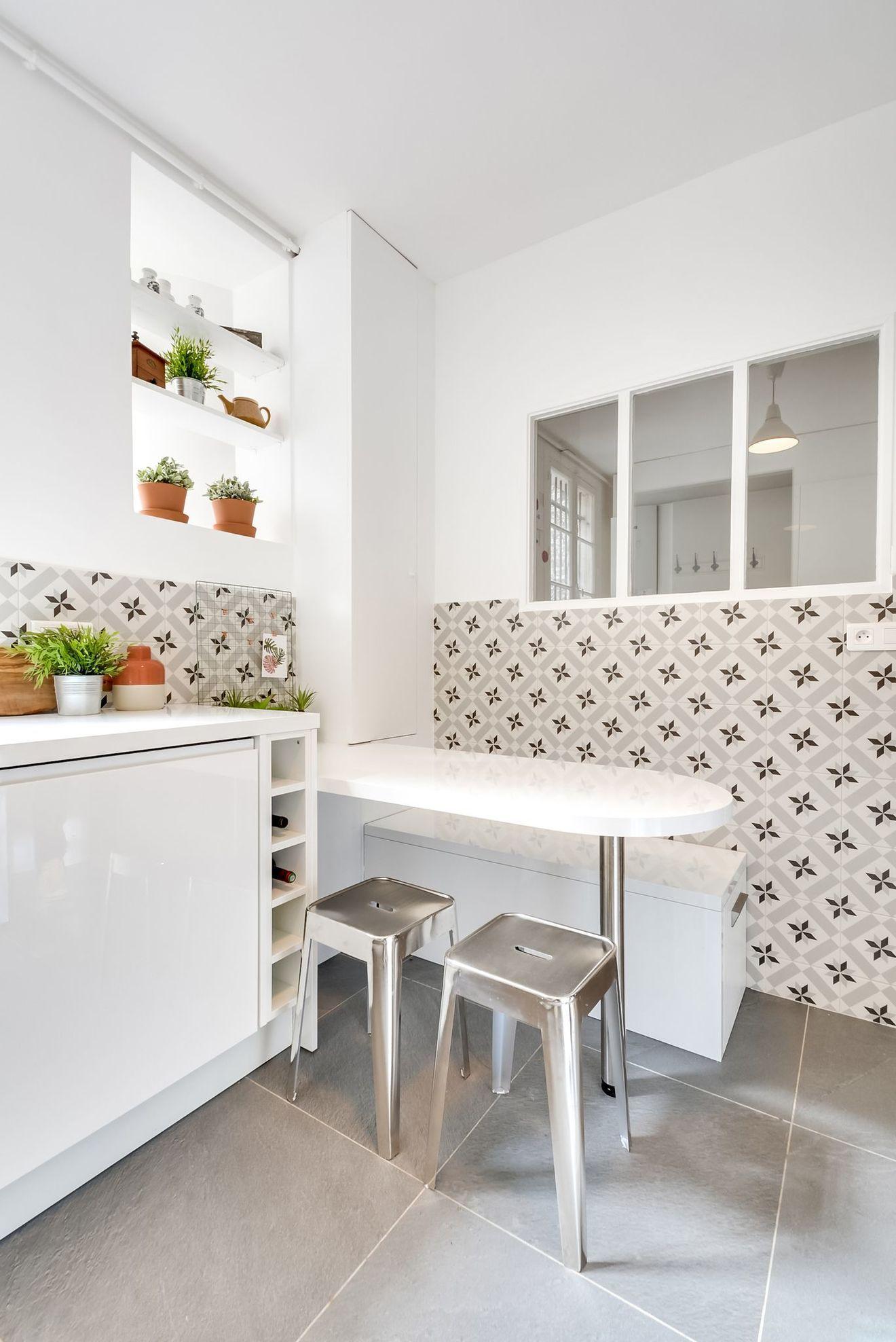 Table De Cuisine Gain De Place coin repas dans la cuisine : petite salle à manger gain de