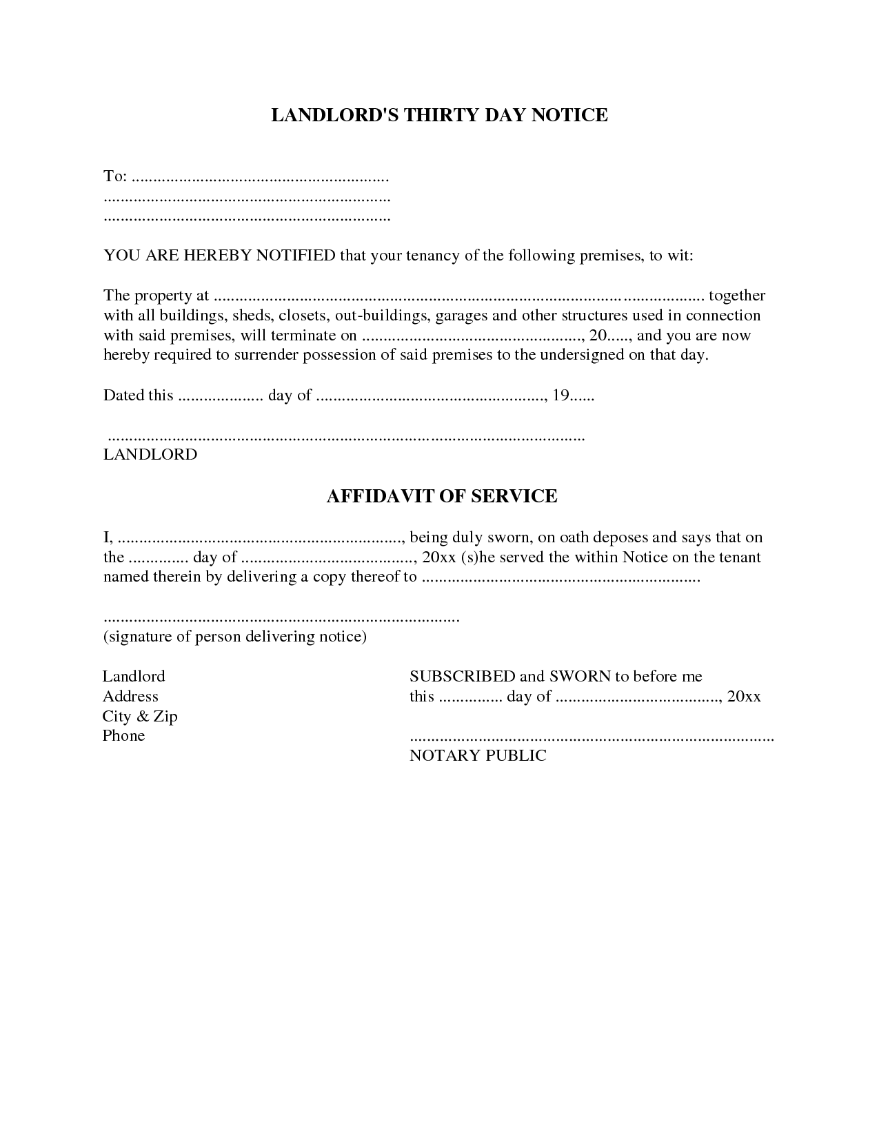 1000 images about Eviction Notice Forms – Letter of Eviction Notice