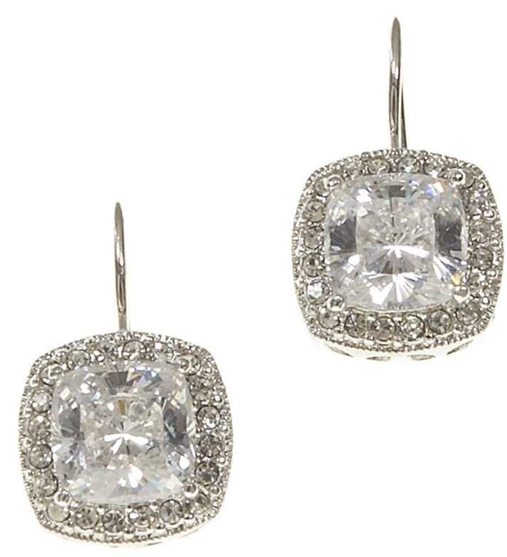 e72784118 Nadri Framed Cushion-Cut CZ Drop Earrings | All About Earrings ...
