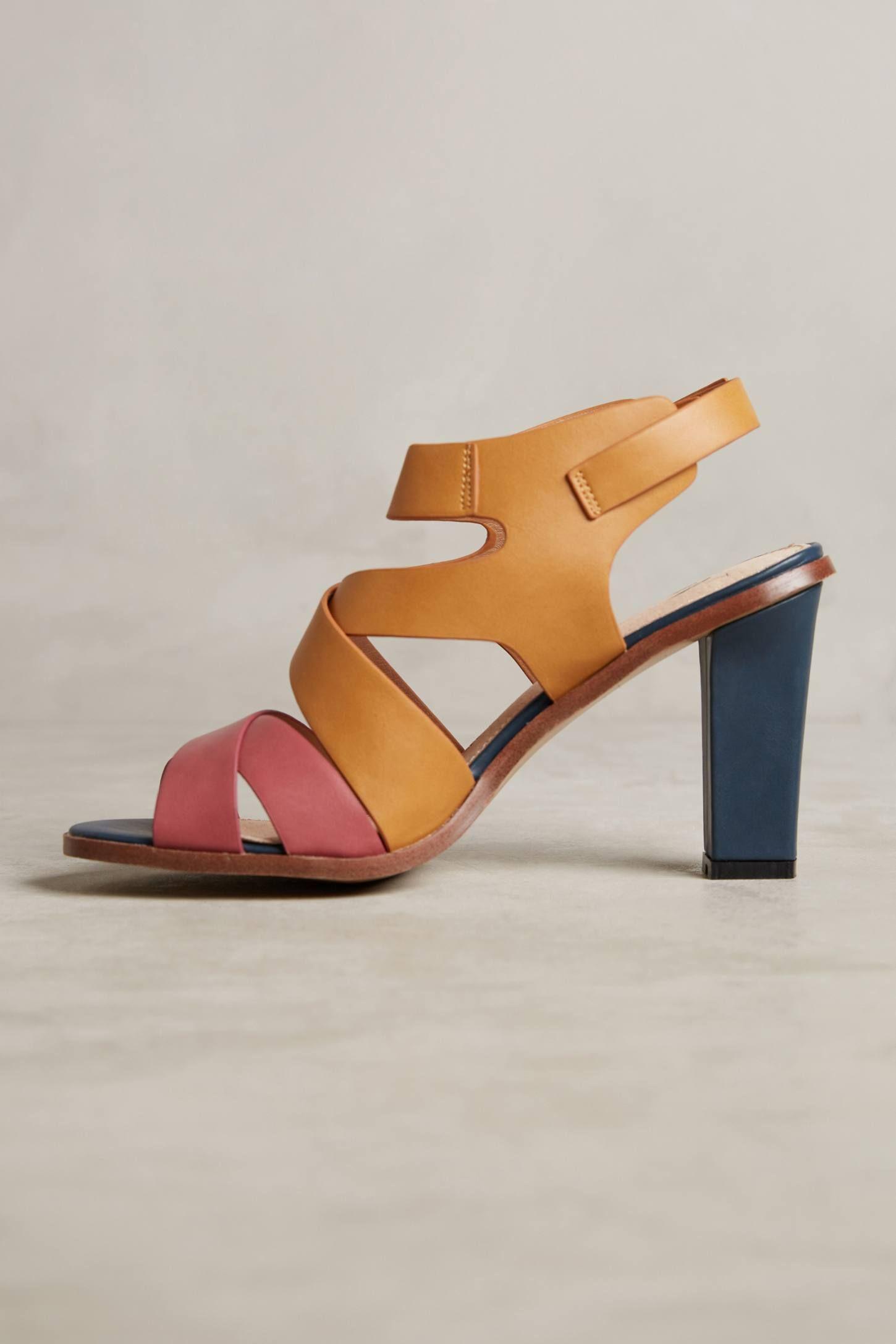 3c4cc43ba9 Vanessa Wu Colorblock Heeled Sandals | เกิบ | Sandals, Heels, Color ...