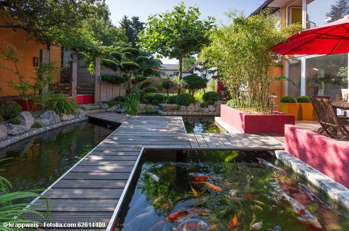 Gartengestaltung Idee Koi Teich | Gartenteich | Pinterest | Koi Gartenteich Ideen Bilder