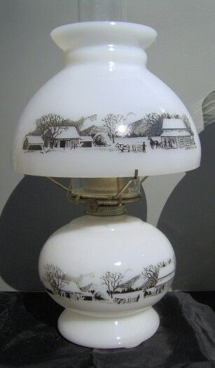 Currier And Ives Pastoral Scene Oil Lamp Currier And Ives Oil Lamps Ceramic Dinnerware