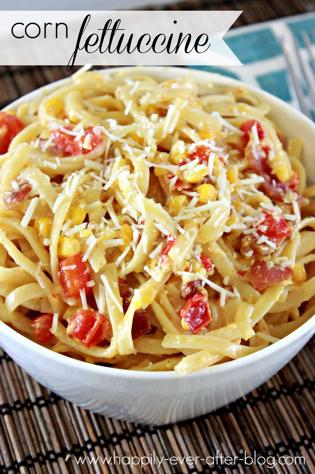 Corn fettuccine cooking recipes dinner fettuccine