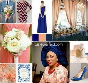 Royal Blue Peach Peach Wedding Dress Peach Wedding Wedding