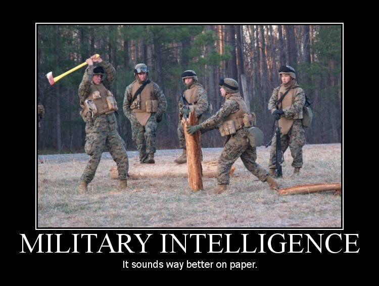 The Oxymoron Military Intelligence Military Humor Army Humor
