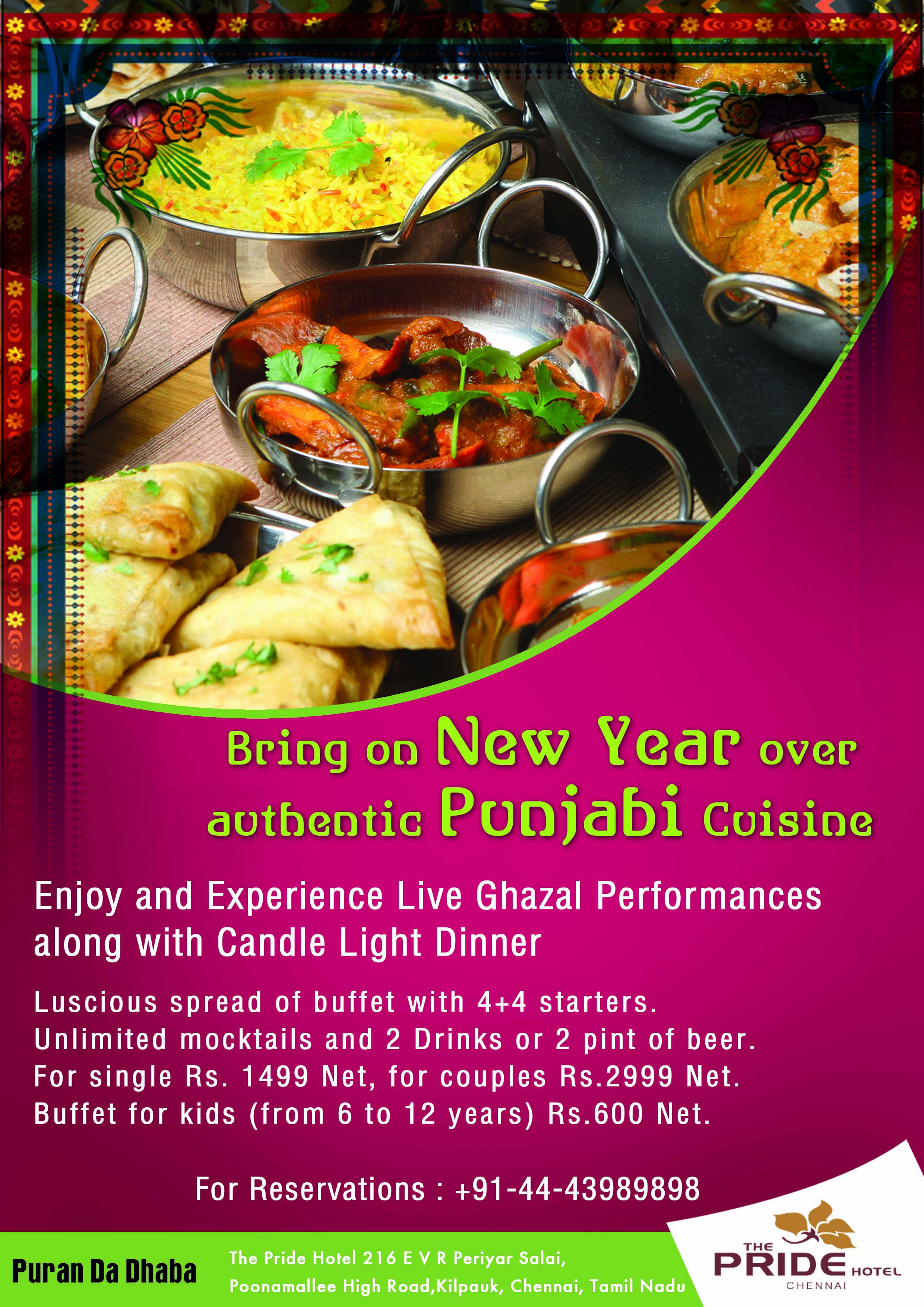 Enjoy Festive Season With Live Gazal Performances Along With Candle Light Dinner Lavish Buffet On 31st Dec Candle Light Dinner Authentic Cuisine Food Festival