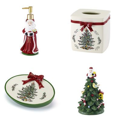 Spode Tree Red Bathroom Accessories Red bathroom accessories