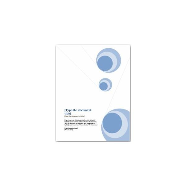 Word Documentation Cover Page Template – Microsoft Word Template Report
