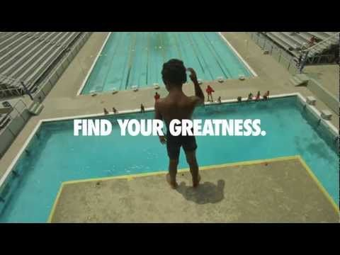 Nike Find Your Greatness - London Olympics Commercial [100x beter dan take the stage Adidas]