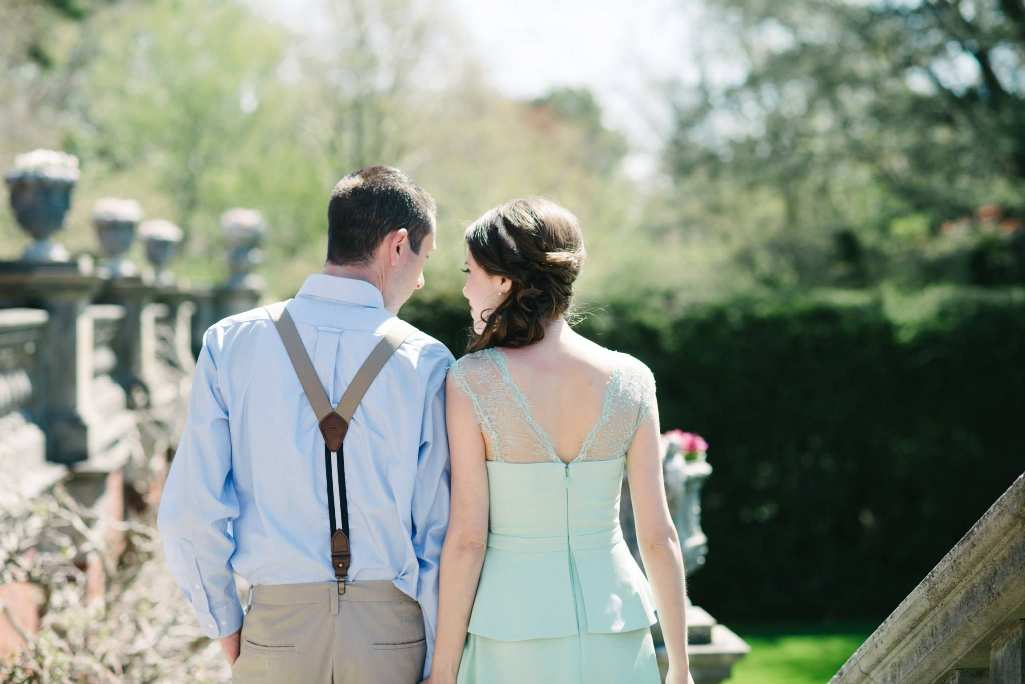 Engagement Photos at Old Westbury Gardens, NY. Makeup And