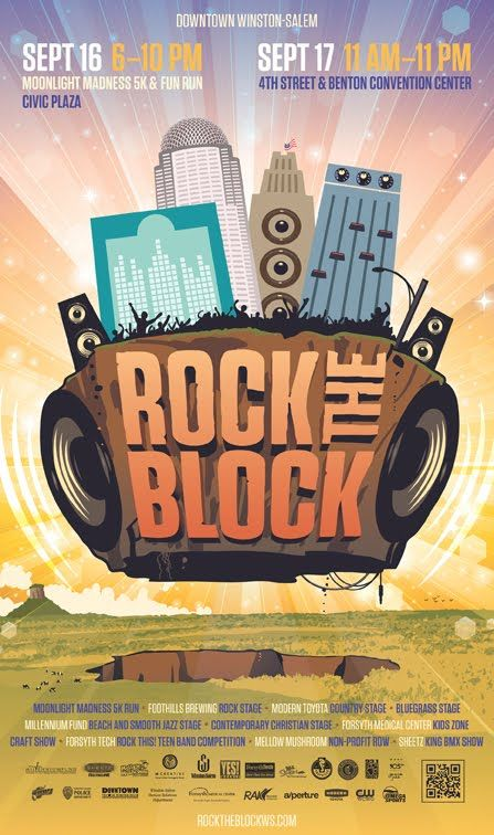 Ws Rock The Block Geek Design Poster Prints Poster Design