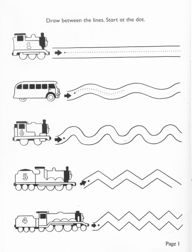 Squiggly line writing activity for preschool