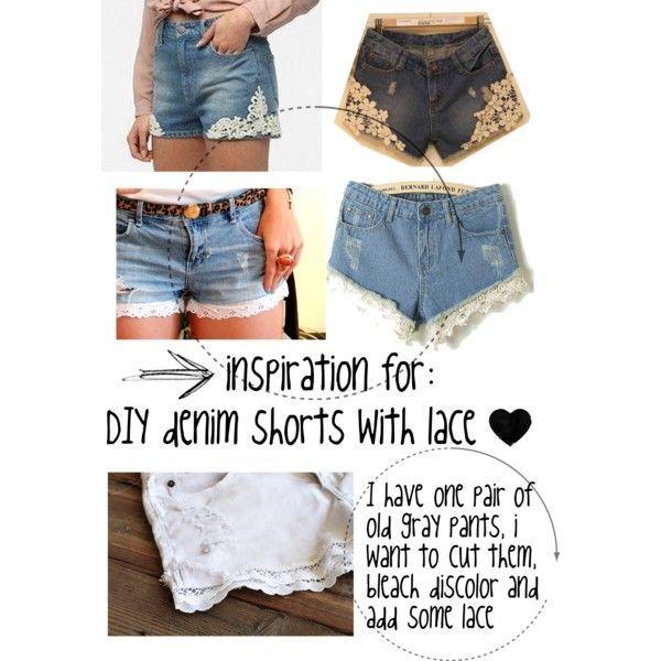 lace denim shorts | Lace shorts | Pinterest | Patrones de costura ...