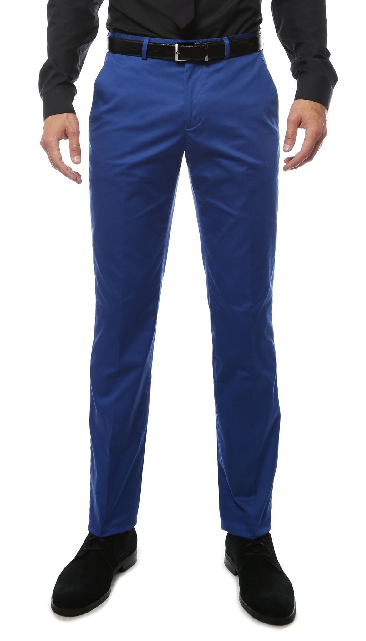 e89a64fdb8716f Zonettie Kilo Royal Blue Straight Leg Chino Pants | mens fashion ...