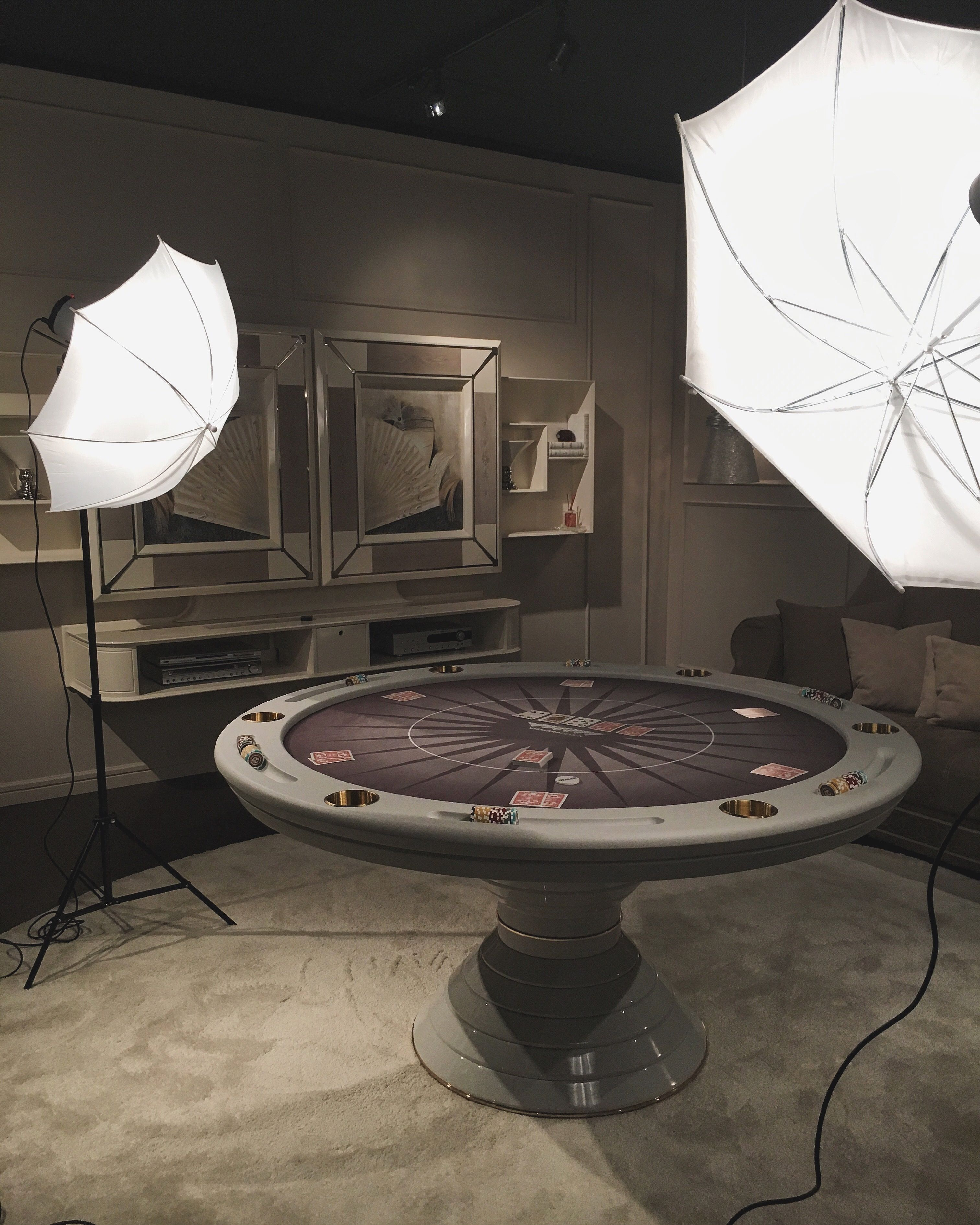 Home Entertainment By Vismara Design Round Poker Table Poker