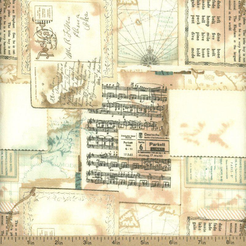 Moda Sweet Serenade Sheet Music Cotton Fabric - Cream by Beverlys.com