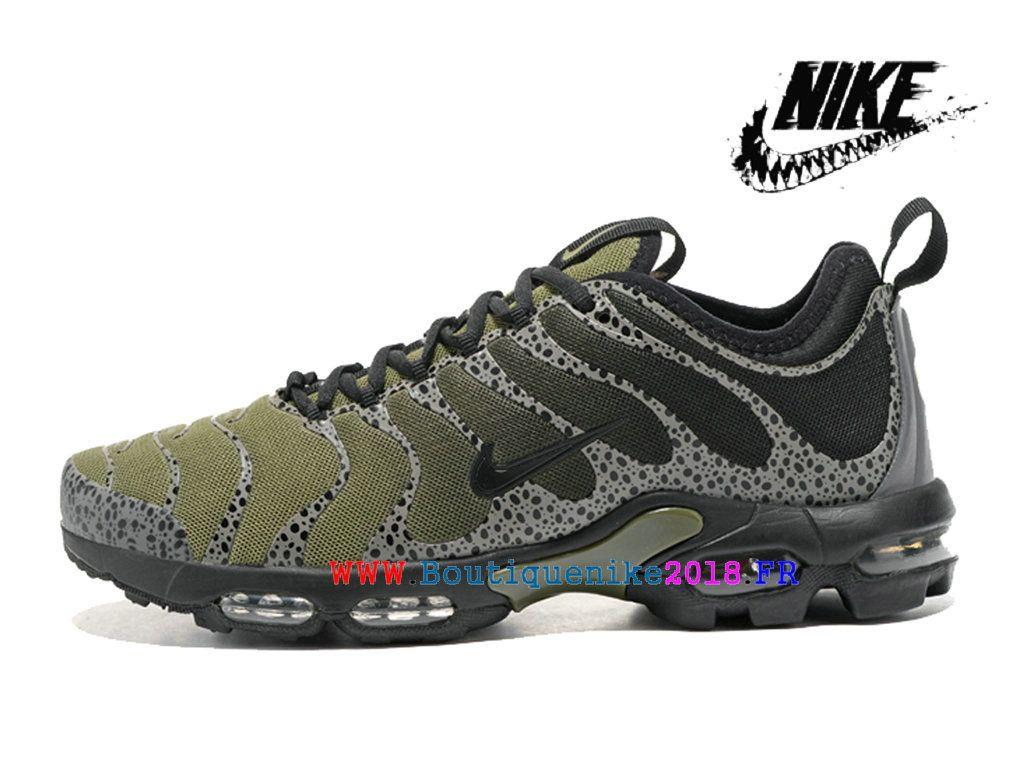 big sale 655ca d9e9e Chaussures Nike Air Max Plus TN Gs Ultra Pas Cher Prix Femme Olive Green  Black-