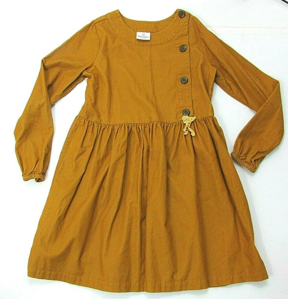 Hanna Andersson Size 150 Or 12 Golden Yellow Corduroy Dress Buttons Long Sleeves Hannaandersson Skater Churchdressyeaste Corduroy Dress Button Dress Dresses [ 1000 x 963 Pixel ]