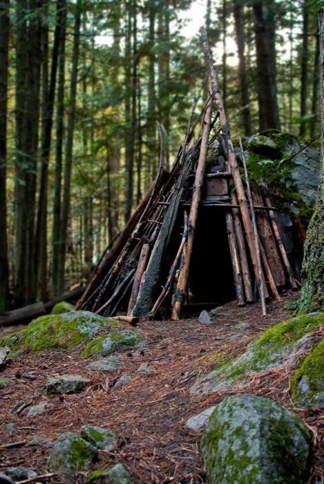This Is A Shelter Most Outdoor Enthusiasts Could Probably Build Note That NOT At The Bottom Of Hill It Will Take Some Work To