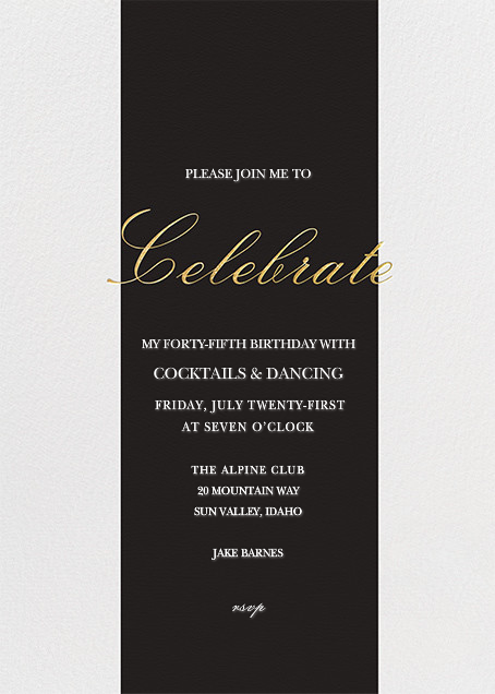 Celebration Stripe By Sugar Paper Customize One Of Hundreds Online Birthday Party Invitations With RSVP Tracking View More Designs On Paperlesspost