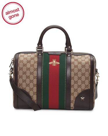 85786dec818 Gucci - Made In Italy Vintage Web Leather Trimmed Coated Canvas Tote ...