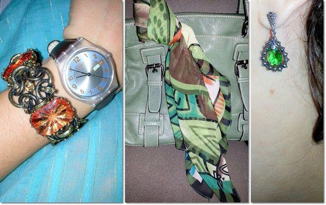 blog v@ LOOKS | por leila diniz: NEON laranja por baixo de camisete verde e riscos dourados + msg de DEUS