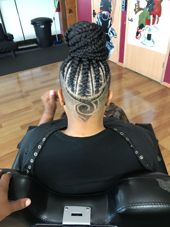 Protective Hairstyles Undercut Designs Goddess Braids