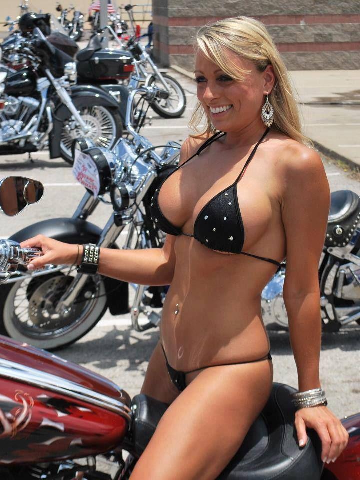 Biker chicks bikinis simply