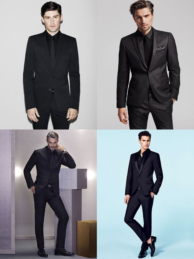 5 New Ways To Wear A Suit : 3. Black-On-Black Lookbook Inspiration ...
