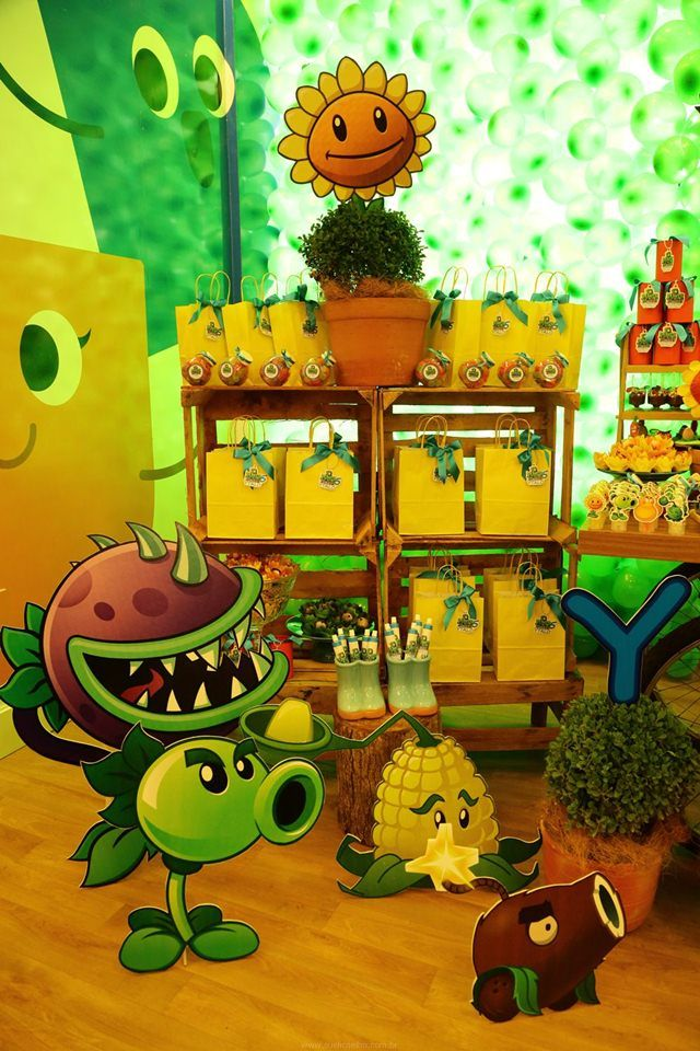 Enfeites De Zumbi ~ Festa Infantil Plants vs Zombies para o Ytalo Zumbis, Plantas vs zumbis e Plantas