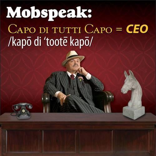 Dey call me da boss AND da capo di tutti capo! #mobspeakmonday #pizza #godfatherspizza