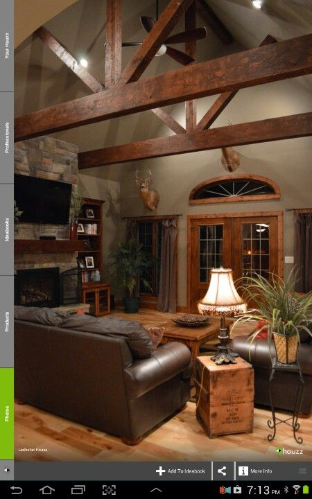 Wall Color Like This With The Rustic Look Farm House Living