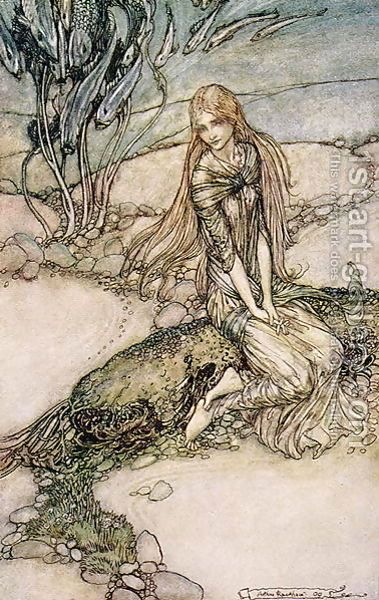 Undine Illustration From The Book By Baron Friedrich De La Motte Fouque 1777 1843 1st Art Gallery Arthur Rackham Fairytale Art Fairytale Illustration