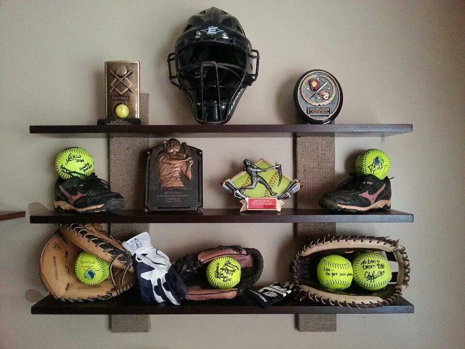 trophy display softball pinterest display