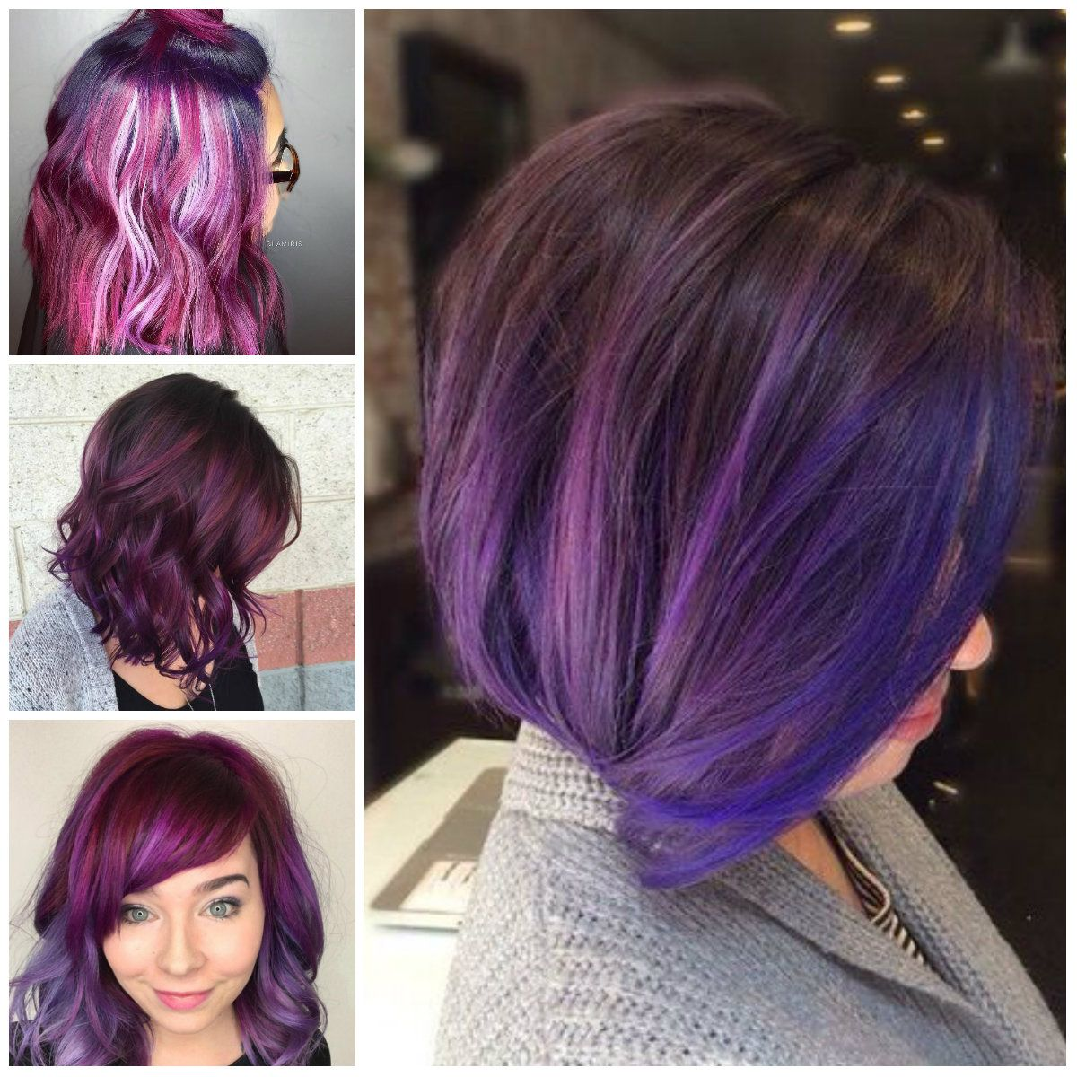 Wearing Purple Bright In Your Hair Can Be Really Fun Any Color Of Rainbow Included The Shades Are Welcomed Being Royalty Makes