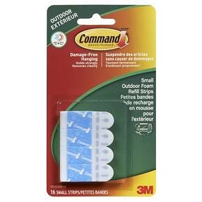 Command™ Outdoor Replacement Strips - Small 16/Pk : Target