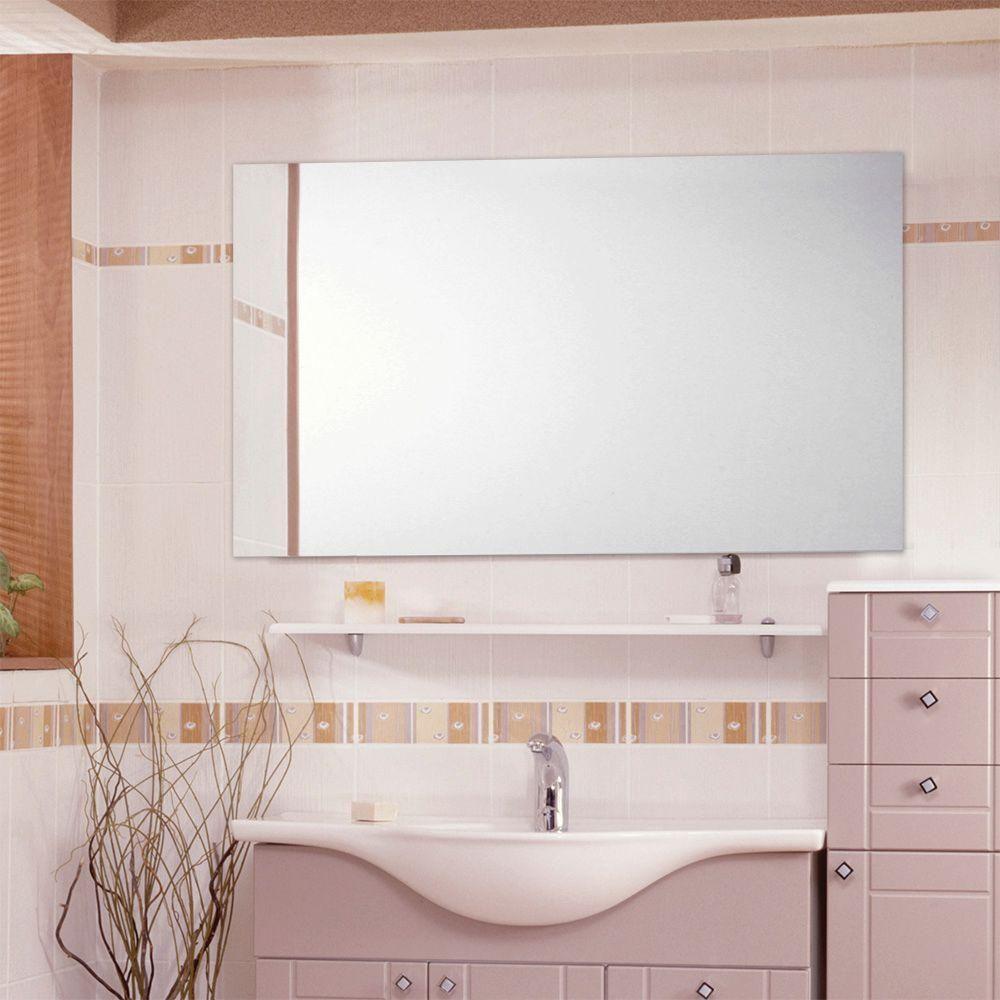 Glacier Bay 36 In W X 60 In L Polished Edge Bath Mirror Silver