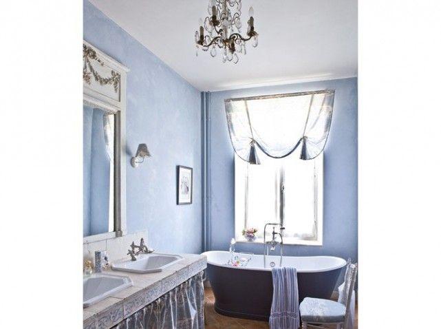 salle de bain bleu lavande - Decoration Salle De Bain Bleu