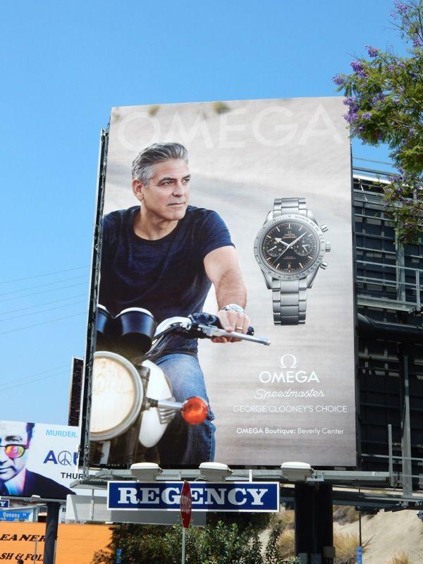 41a00432ad7f George Clooney Omega Speedmaster watch billboard