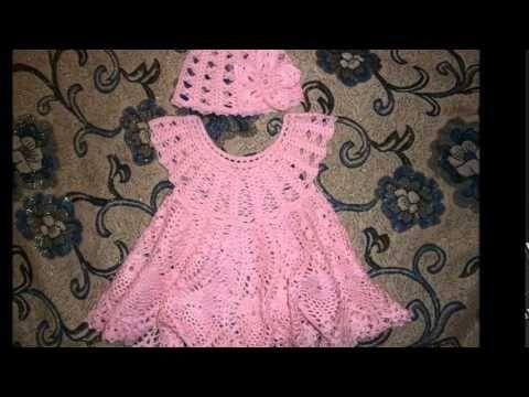 Vestidos Para Bebe Niña Con Patrones - Tejidos a Crochet - YouTube ... 7e1ff05588e