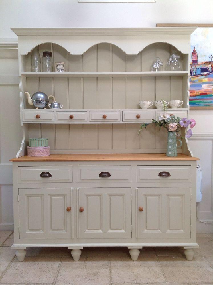 Painted Dresser Solid Pine Welsh Farmhouse Cream Kitchen Victorian Style
