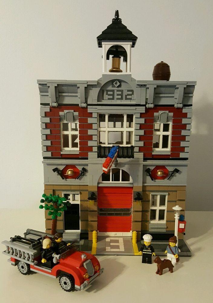 Lego Fire Brigade 10197 Modular W Instructions Minifigures