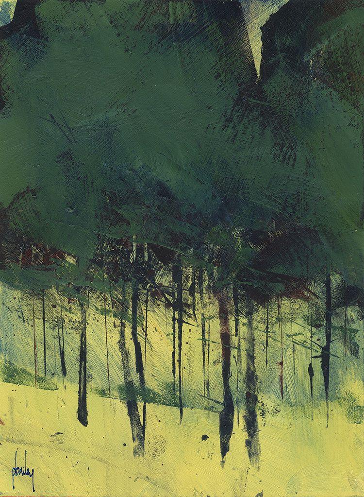 Pine Copse Paisaje Abstracto Pinturas Abstractas Paisajes