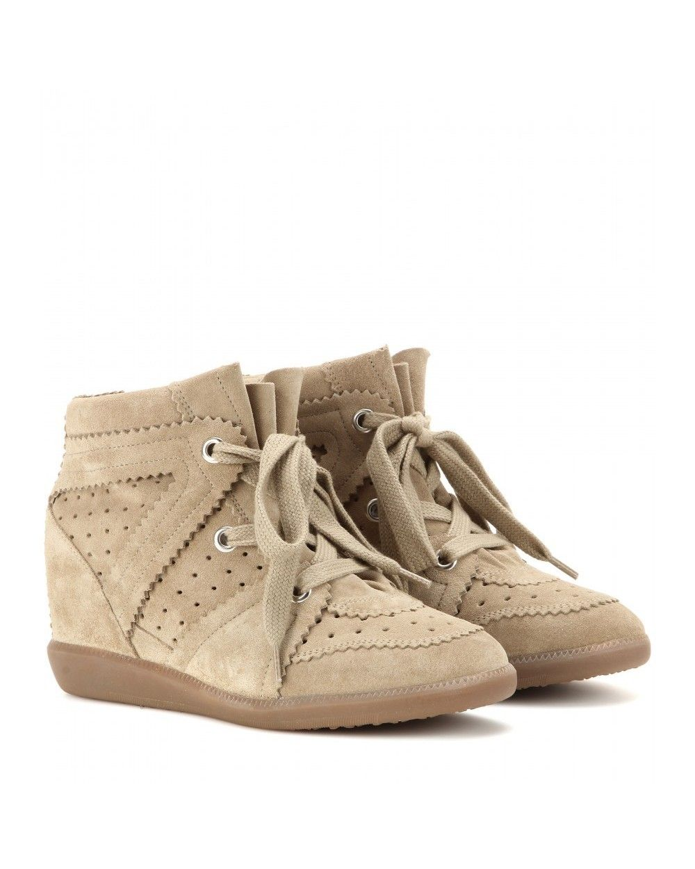 8806e2eeb1 Isabel Marant Bobby Suede Wedge Sneakers Trainers Beige - Isabel Marant # isabelmarant #shoes #sneakers #women #womenfashion #newyear #fashion #gifts
