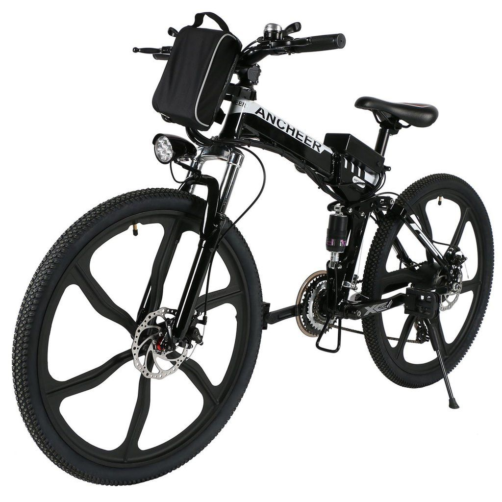 Ancheer 26 Inch Wheel Folding Electric Mountain Bike With Super