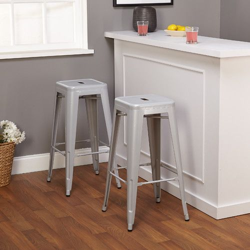 "Tms 30"" Avalon Metal Stackable Stool & Reviews  Wayfair  Camp Classy Walmart Kitchen Stools Inspiration Design"