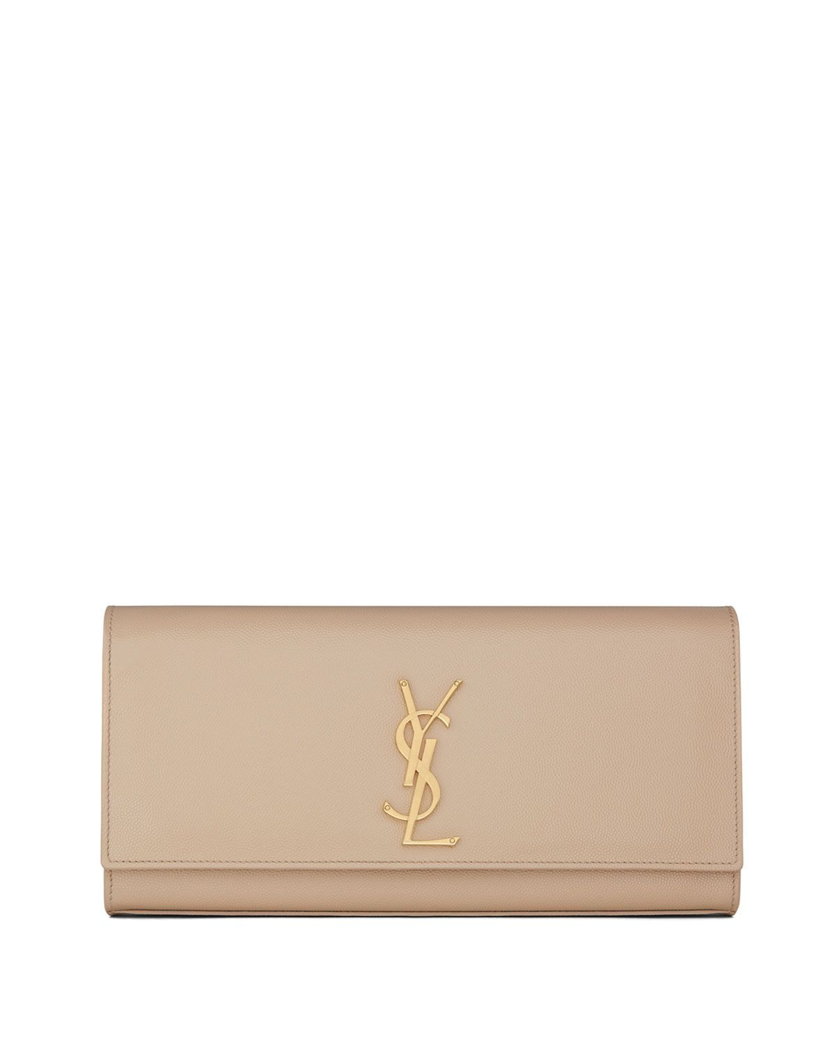 a681470465d2 Saint Laurent Cassandre Calfskin Clutch Bag, Cream  #creamclutchbagsforweddings