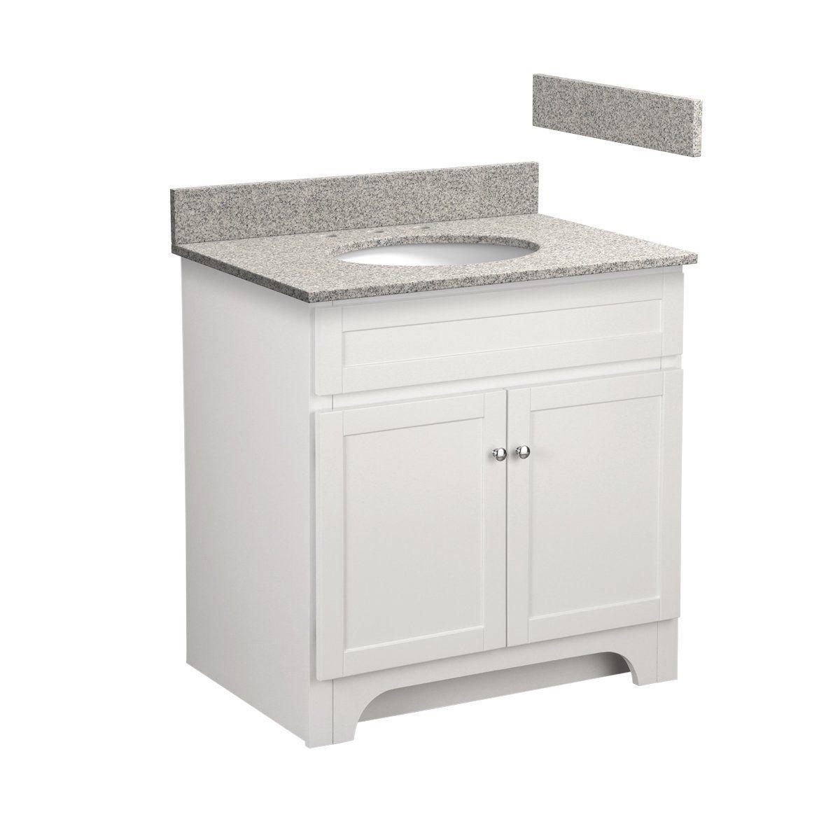 Foremost Cowat3021 8m 30 Inch Columbia Bathroom Vanity Combo With Meteorite Gray Granite Top Pre Attached Undermo Bathroom Vanity Combo Bathroom Vanity Vanity